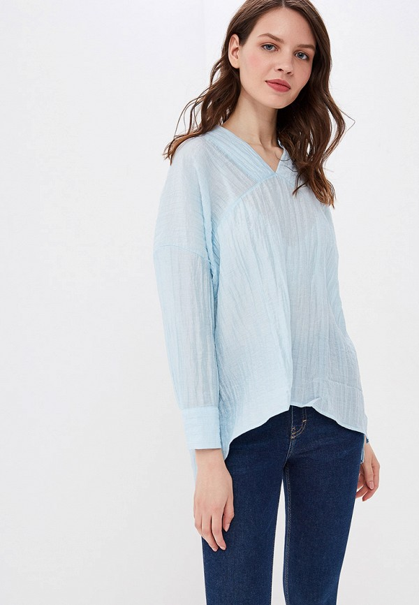 Фото - женскую блузку Sweewe голубого цвета