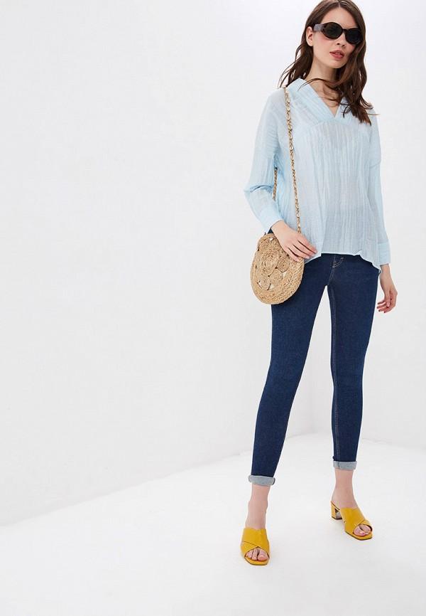 Фото 2 - женскую блузку Sweewe голубого цвета