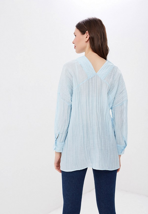 Фото 3 - женскую блузку Sweewe голубого цвета