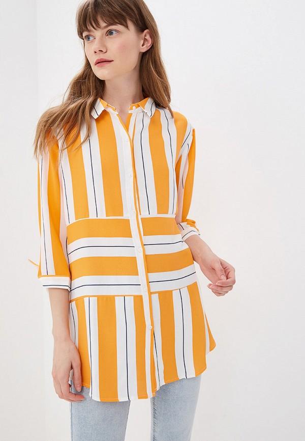 женская блузка sweewe, оранжевая