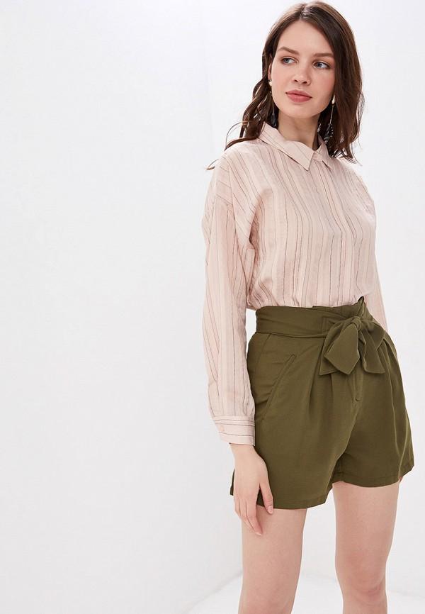 женская рубашка с длинным рукавом sweewe, розовая