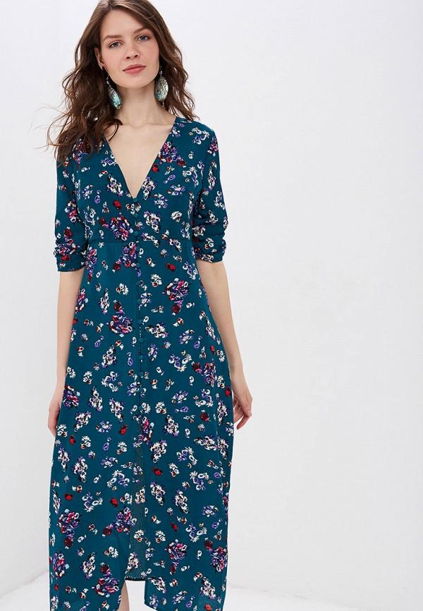 Фото 2 - женское платье Sweewe бирюзового цвета