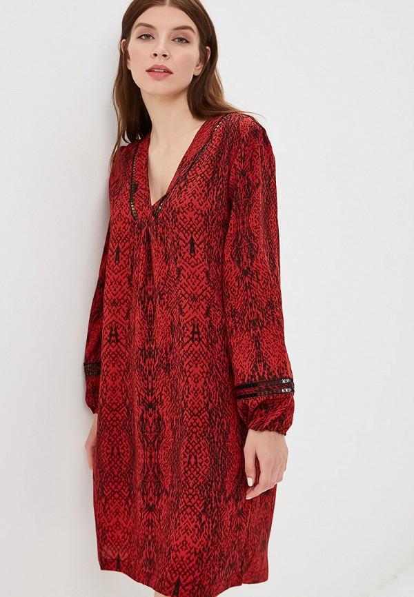 женское повседневные платье sweewe, бордовое