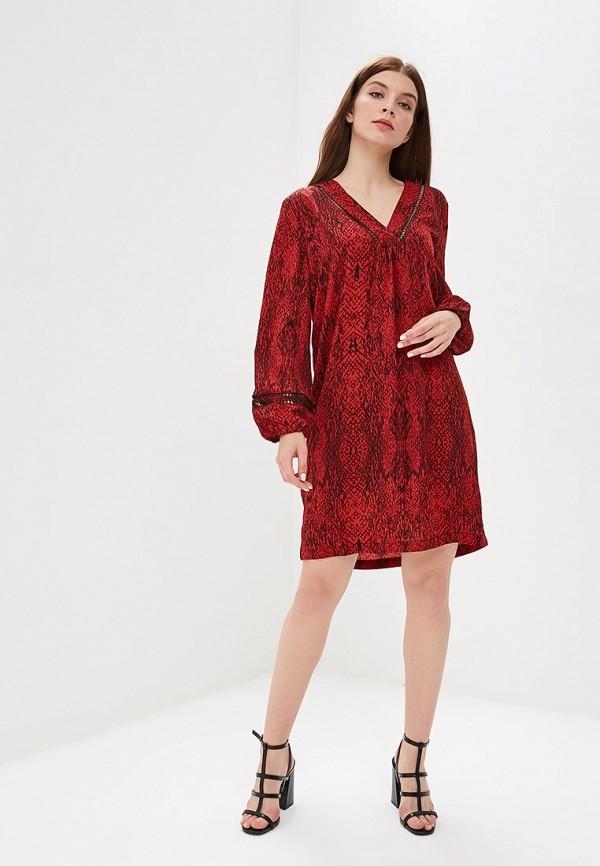 Фото 2 - женское платье Sweewe бордового цвета