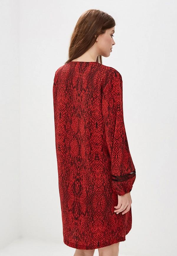 Фото 3 - женское платье Sweewe бордового цвета