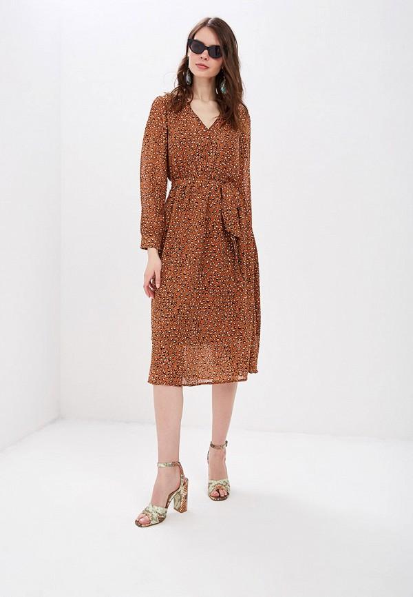 женское повседневные платье sweewe, коричневое