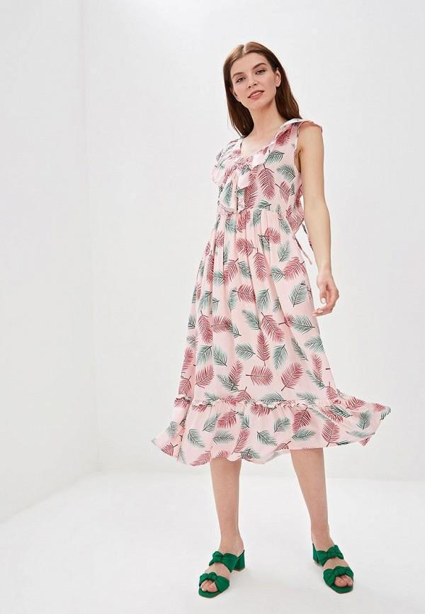 женское повседневные платье sweewe, розовое
