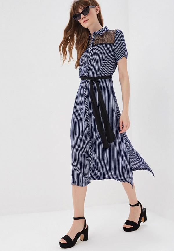 Фото 2 - женское платье Sweewe синего цвета