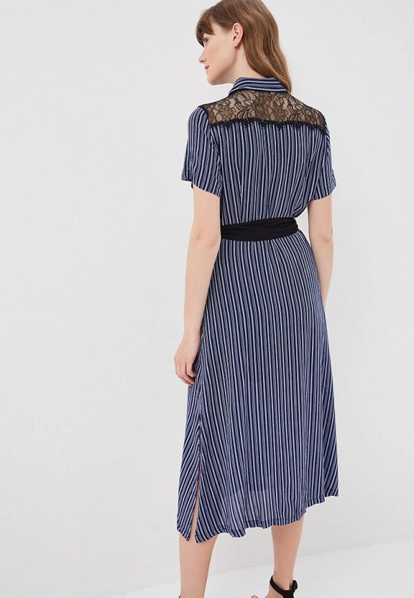 Фото 3 - женское платье Sweewe синего цвета