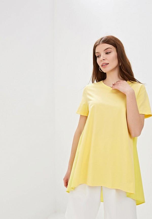 женская футболка sweewe, желтая