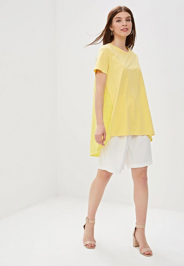 Фото 2 - женскую футболку Sweewe желтого цвета