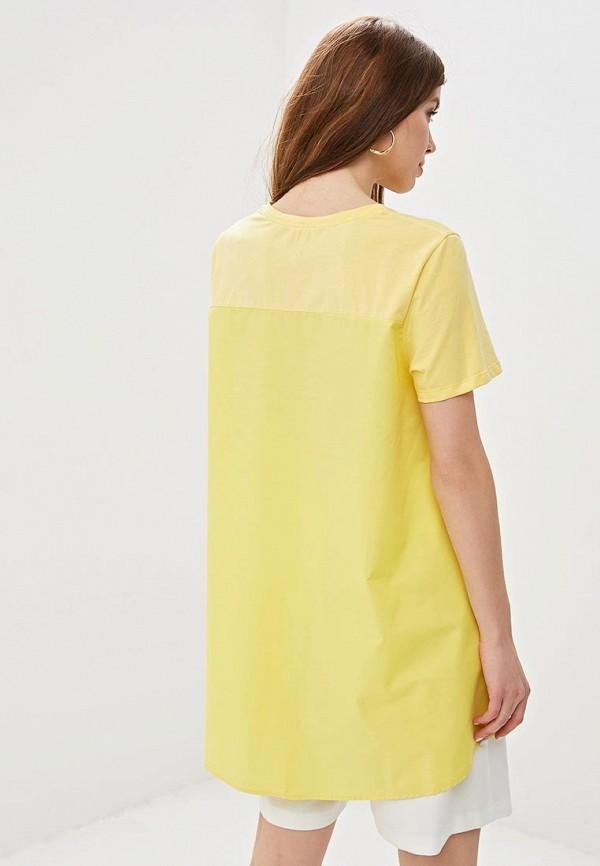 Фото 3 - женскую футболку Sweewe желтого цвета