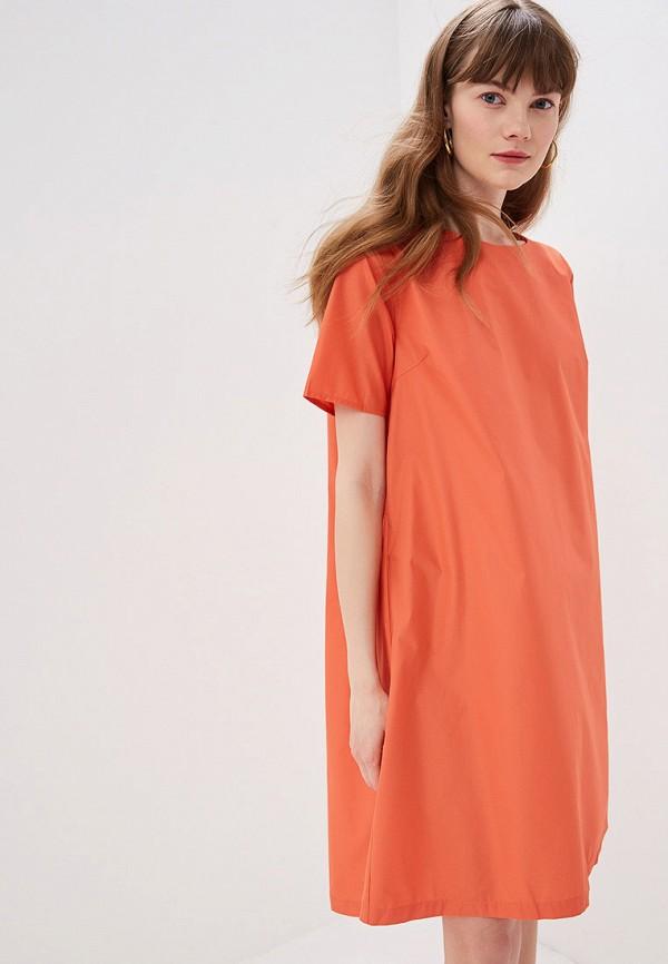женское повседневные платье sweewe, оранжевое