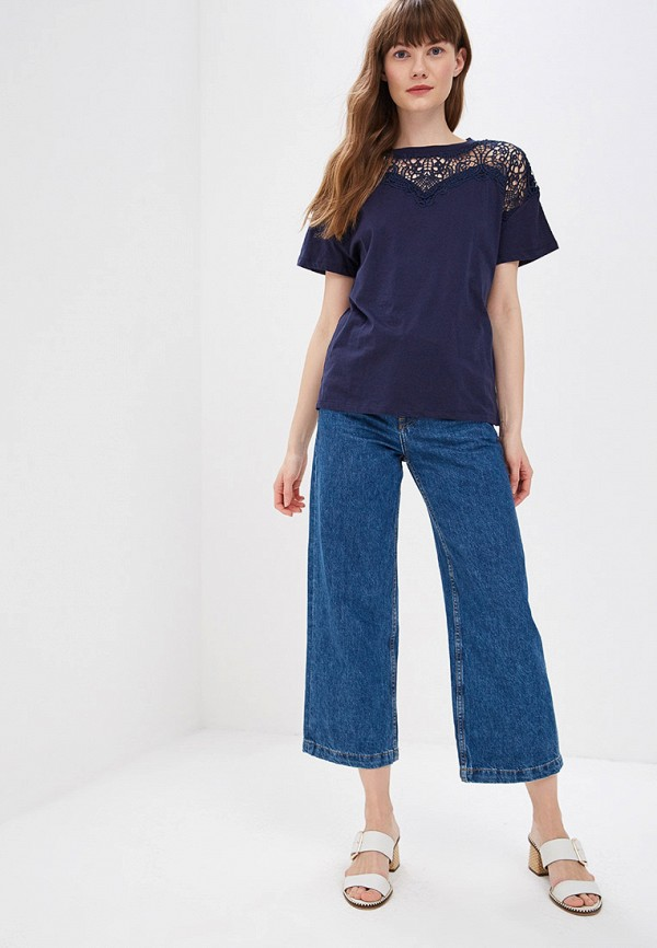 Фото 2 - женскую футболку Sweewe синего цвета