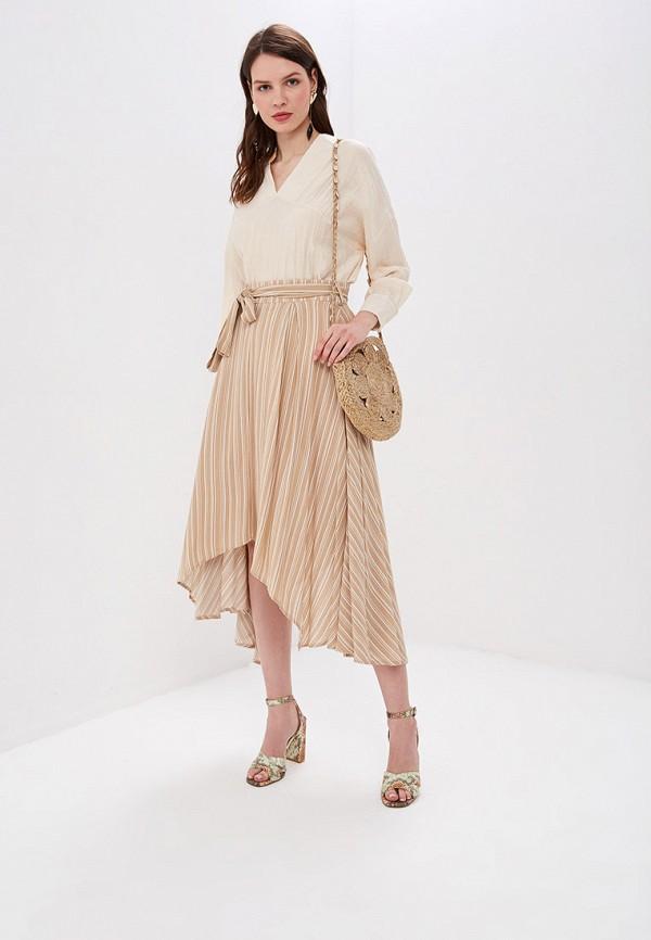 Фото 2 - женскую юбку Sweewe бежевого цвета