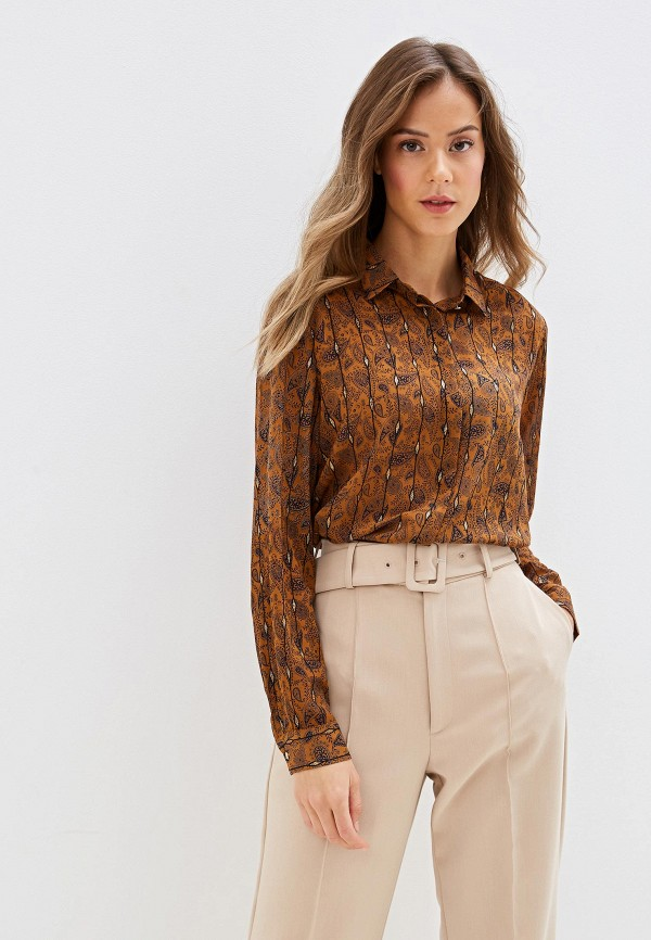 женская блузка sweewe, коричневая
