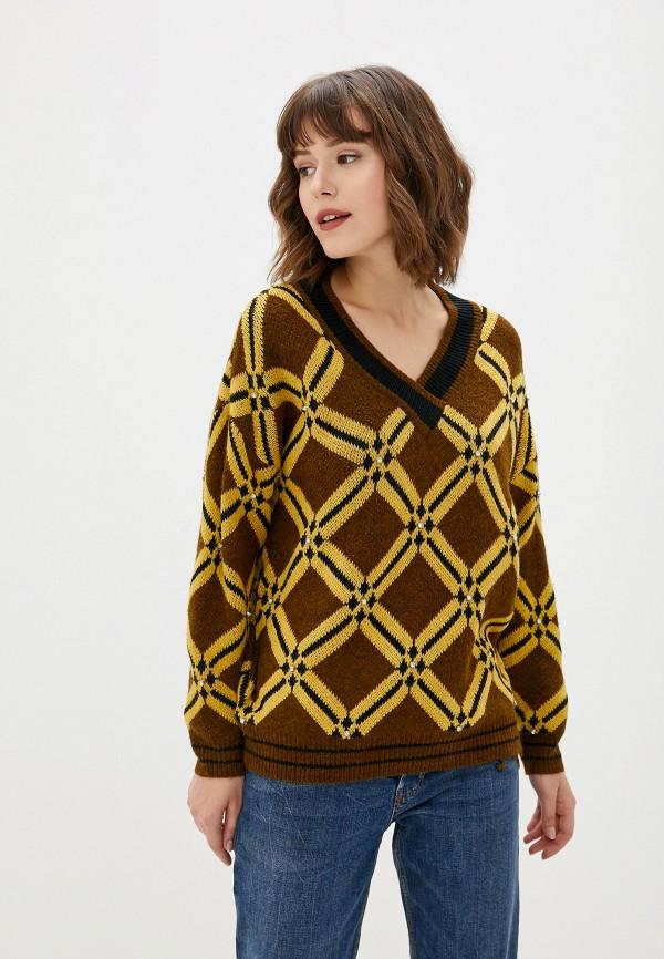 женский пуловер sweewe, коричневый