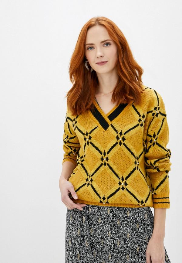 женский пуловер sweewe, желтый