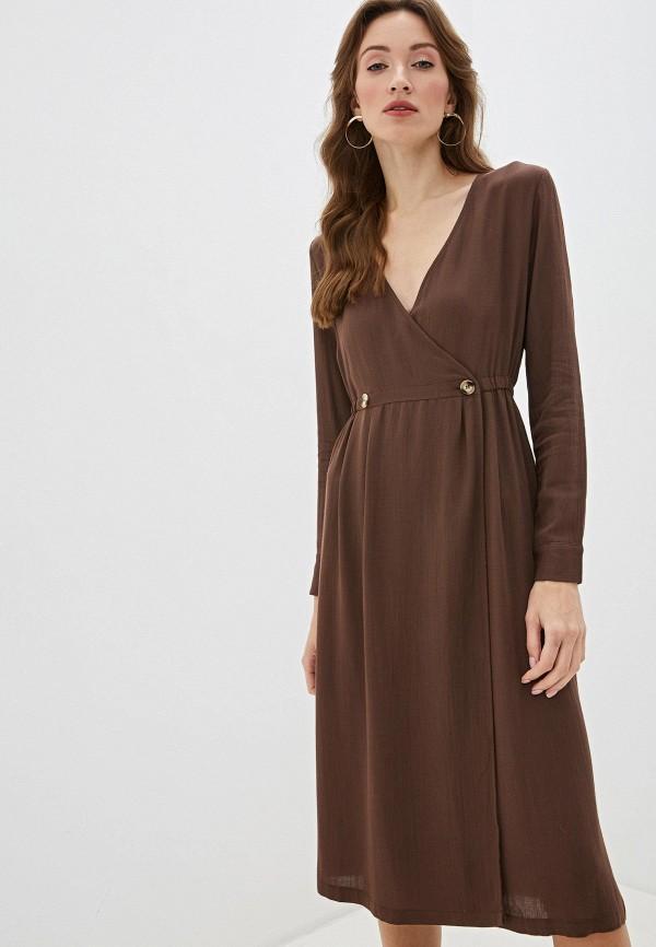 женское платье sweewe, коричневое