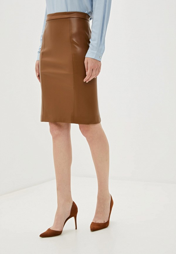 женская юбка sweewe, коричневая