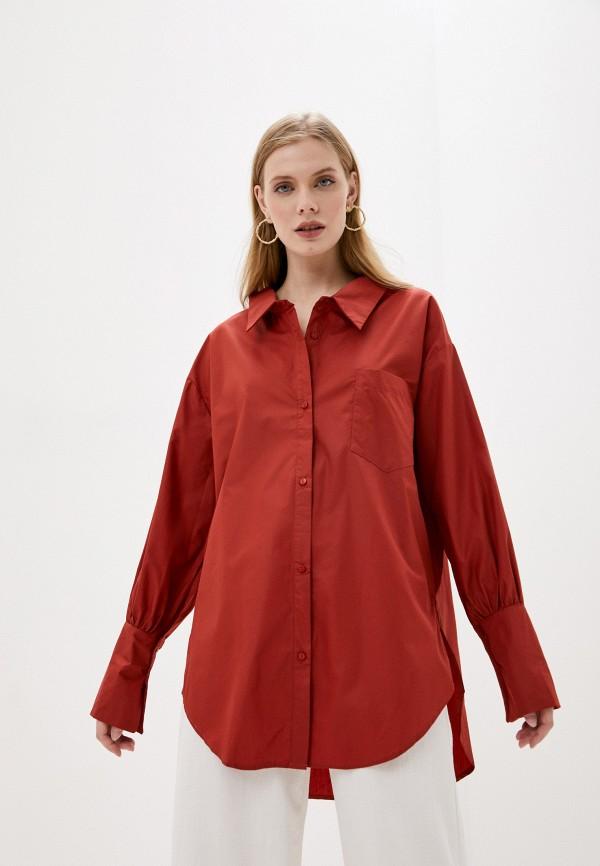 женская рубашка с длинным рукавом sweewe, красная