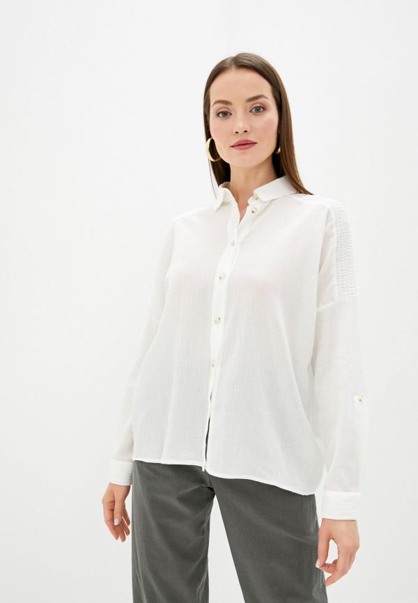 женская рубашка с длинным рукавом sweewe, белая