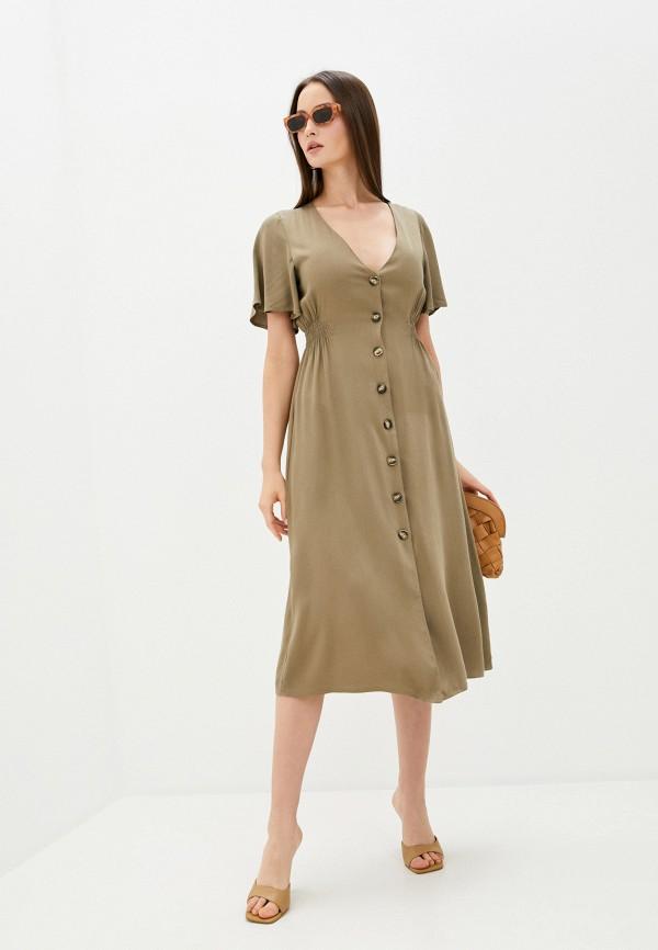 женское повседневные платье sweewe, хаки