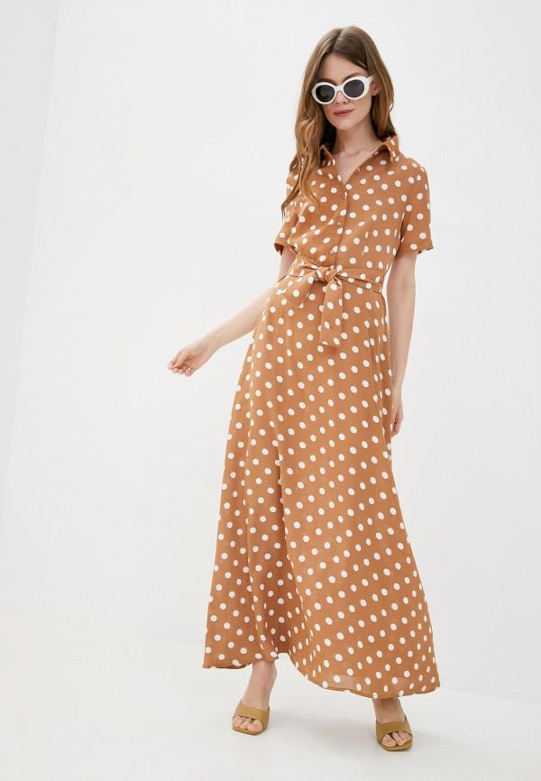 женское повседневные платье sweewe, бежевое