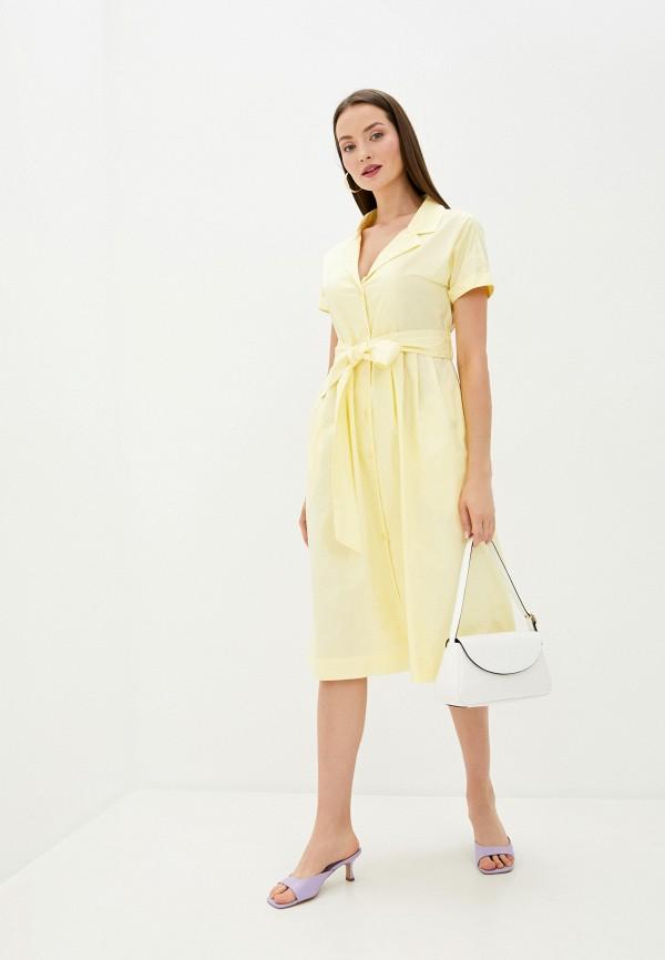 женское повседневные платье sweewe, желтое
