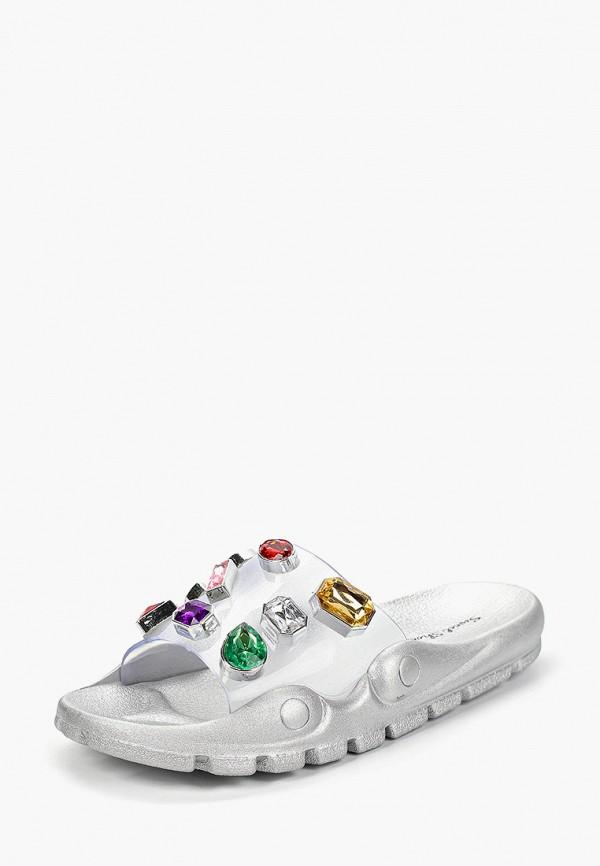 Фото 2 - Сланцы Sweet Shoes серебрянного цвета