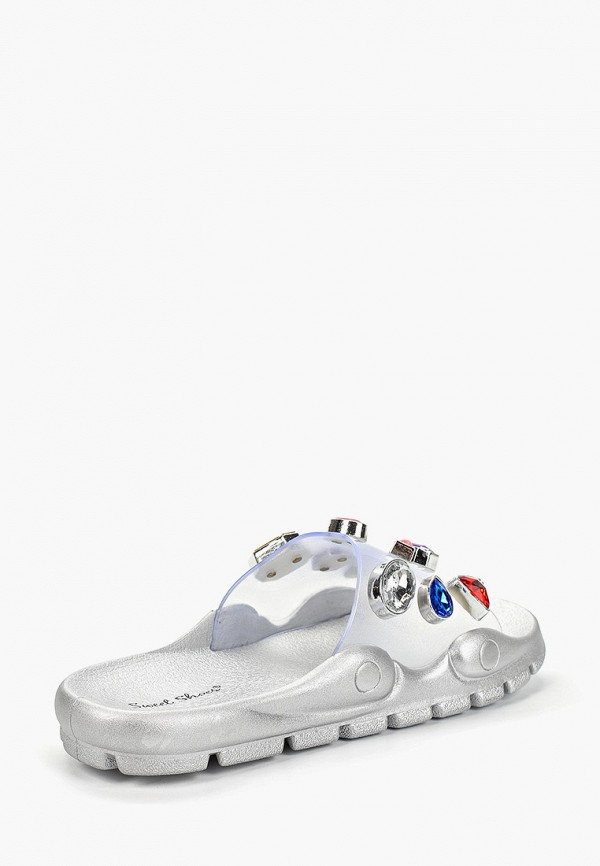 Фото 3 - Сланцы Sweet Shoes серебрянного цвета