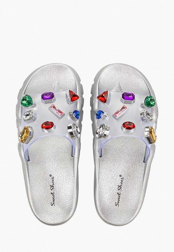 Фото 4 - Сланцы Sweet Shoes серебрянного цвета