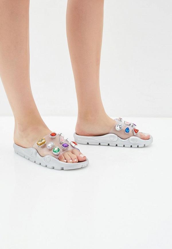Фото 6 - Сланцы Sweet Shoes серебрянного цвета