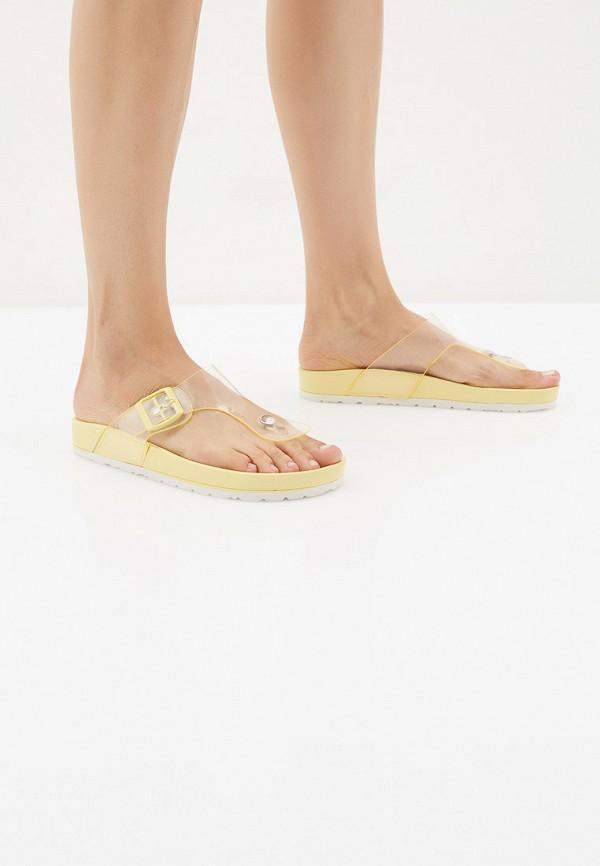 Фото 6 - Сланцы Sweet Shoes желтого цвета
