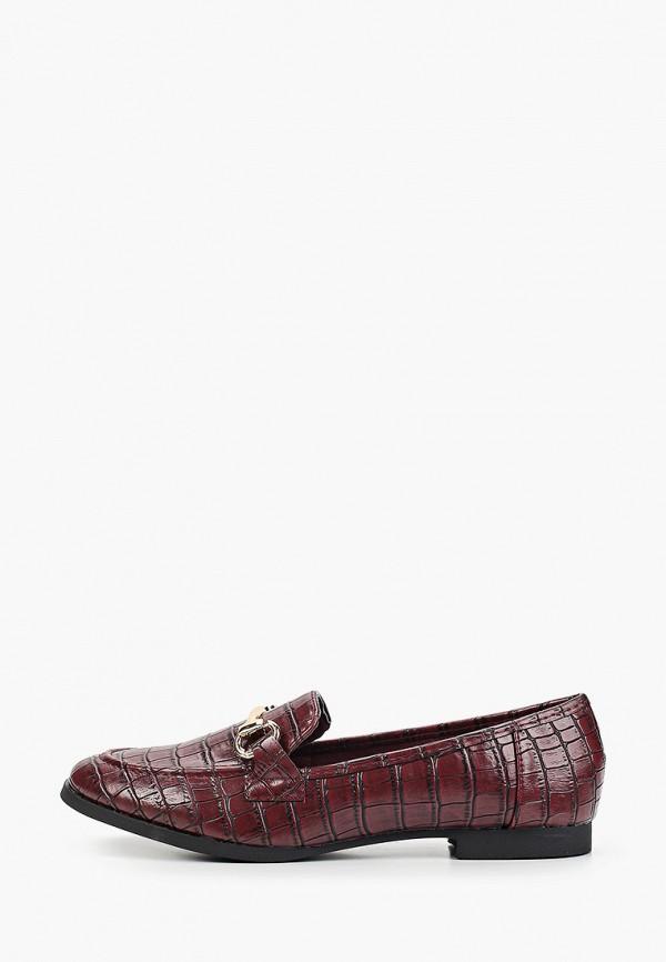 женские лоферы sweet shoes, бордовые