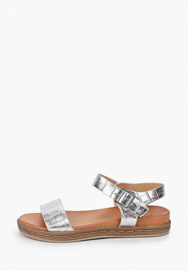 женские сандалии sweet shoes, серебряные