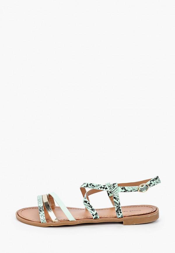 женские сандалии sweet shoes, бирюзовые