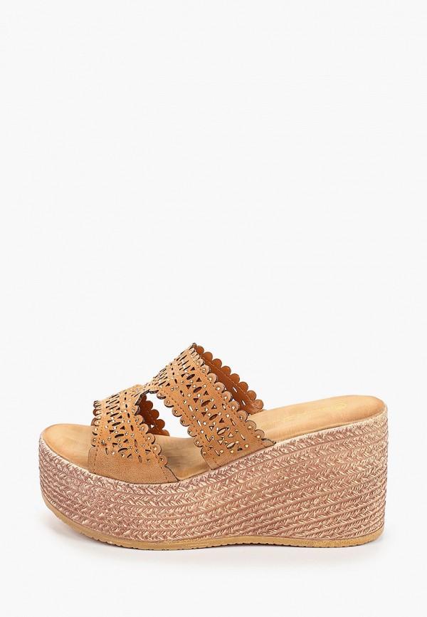 женское сабо sweet shoes, коричневое