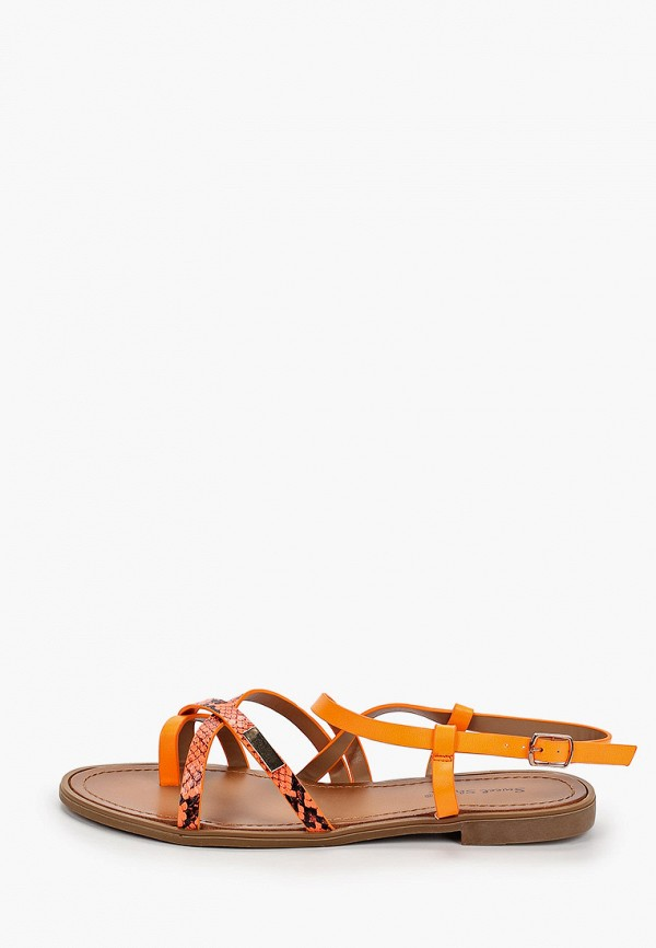 женские сандалии sweet shoes, оранжевые