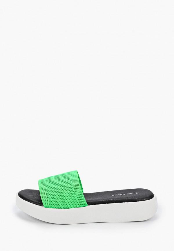женское сабо sweet shoes, зеленое