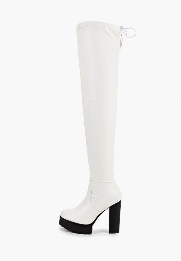 женские ботфорты sweet shoes, белые