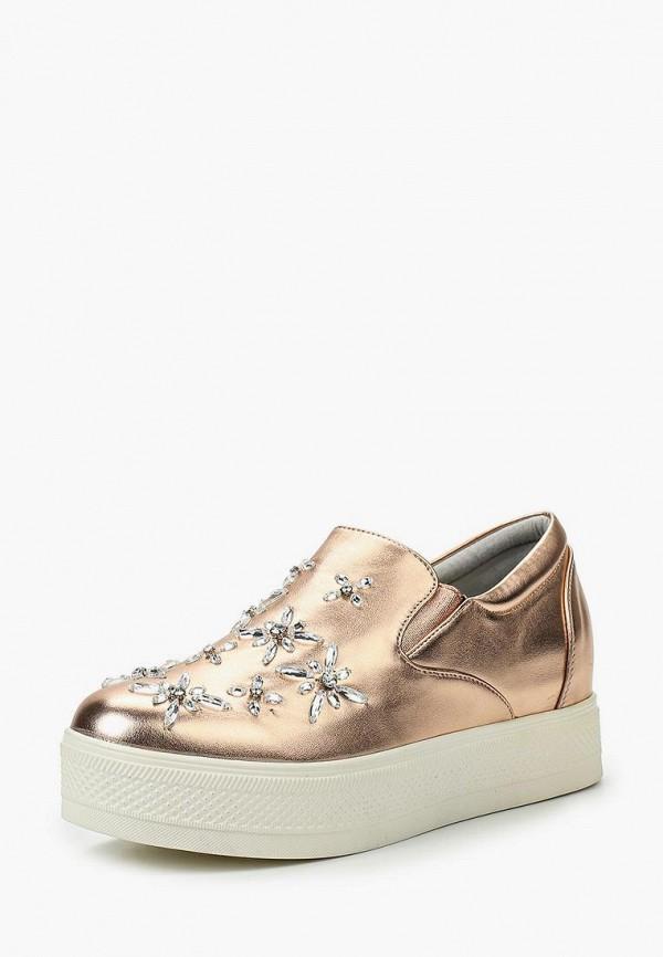 Купить Слипоны Sweet Shoes, SW010AWTBP93, золотой, Весна-лето 2017