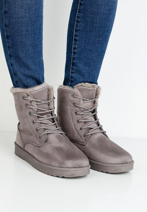 Фото 5 - женские ботинки и полуботинки Sweet Shoes серого цвета