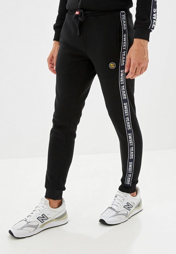 мужские спортивные спортивные брюки sweet years, черные