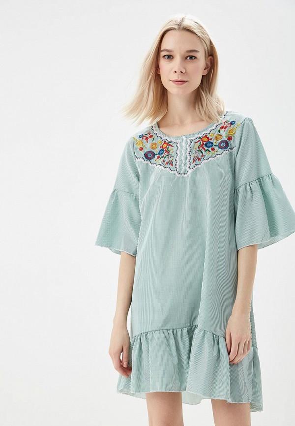 Зеленое платье Sweet Miss