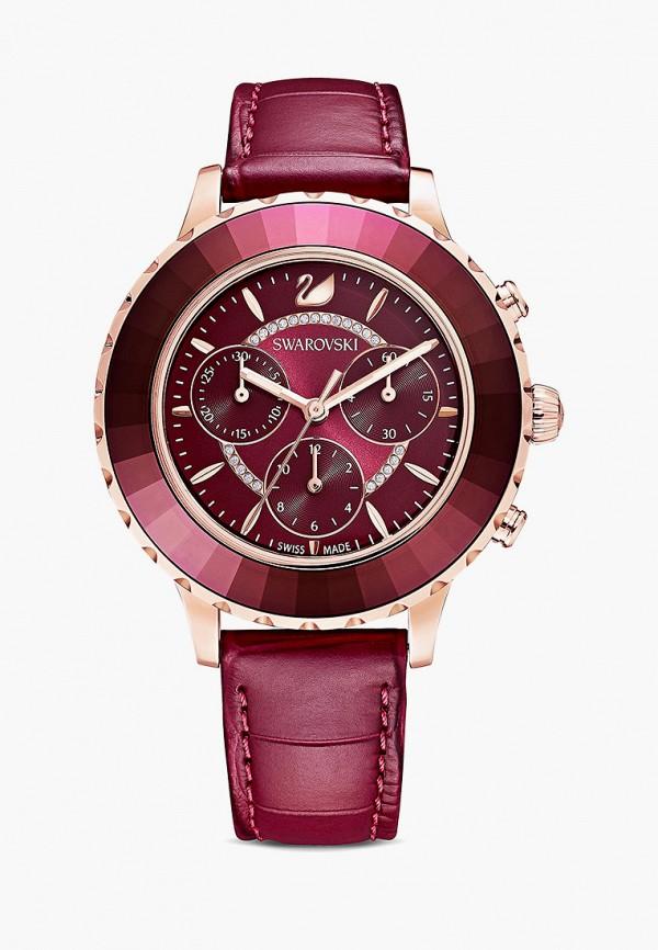 женские часы swarovski®, бордовые