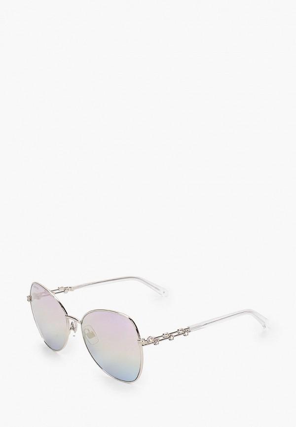 женские авиаторы солнцезащитные очки swarovski®, серебряные
