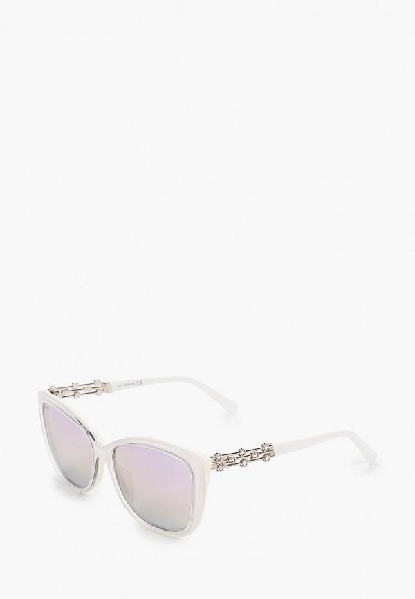 женские квадратные солнцезащитные очки swarovski®, белые