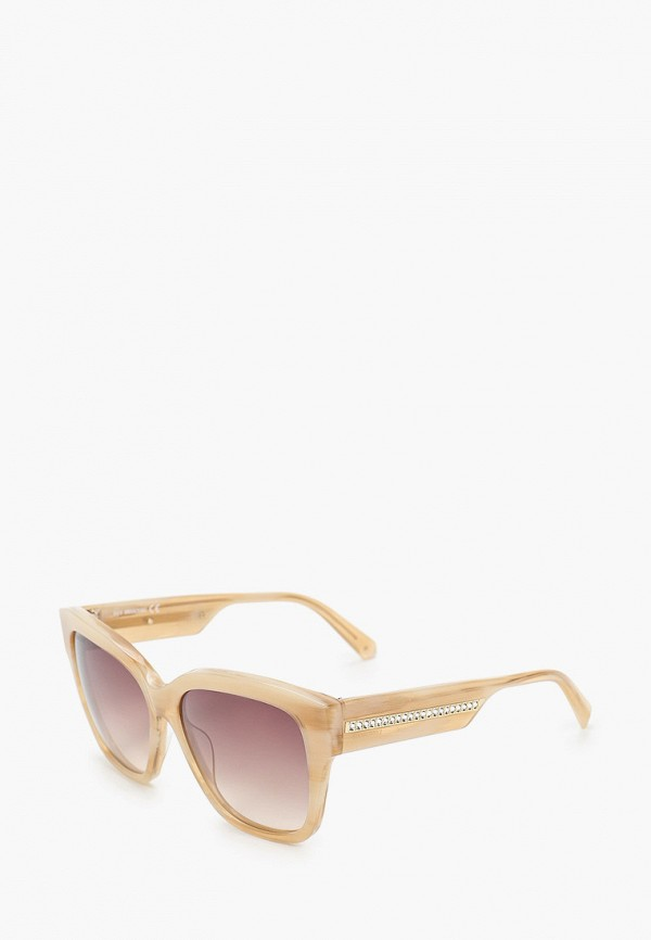 женские квадратные солнцезащитные очки swarovski®, бежевые