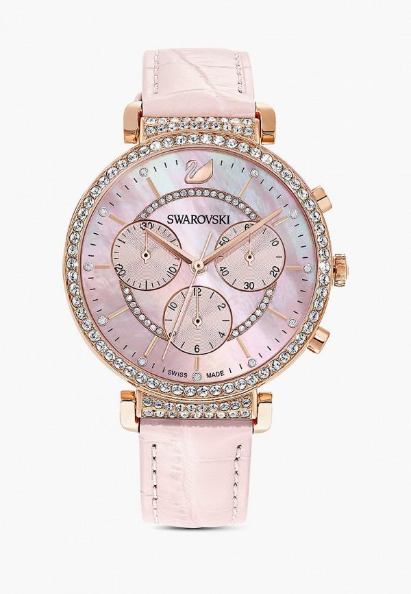 женские часы swarovski®, розовые